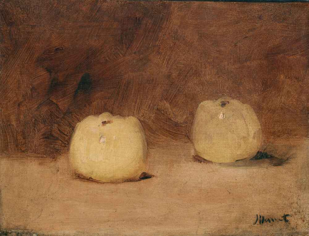 Still Life with Two Apples - Edouard Manet