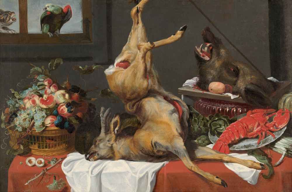 Still Life with a Dead Stag - Frans Snyders