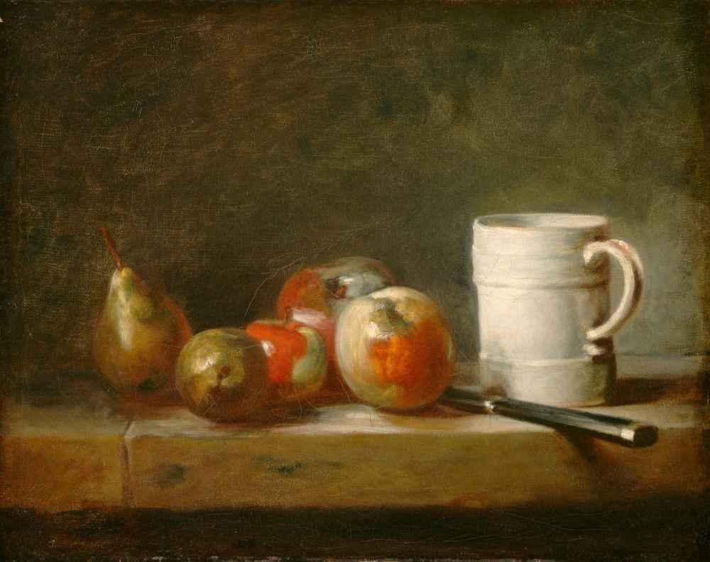 Still Life with a White Mug - Jean Baptiste Simeon Chardin