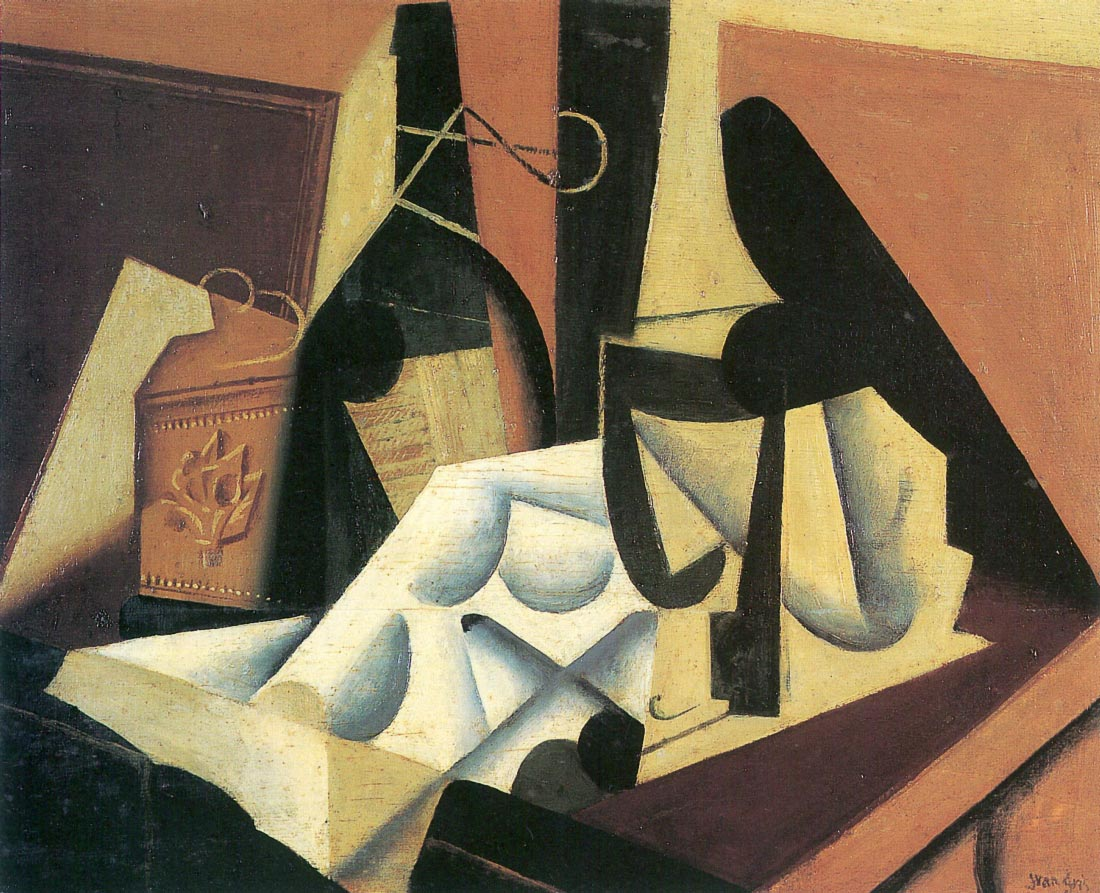 Still Life with a white tablecloth - Juan Gris