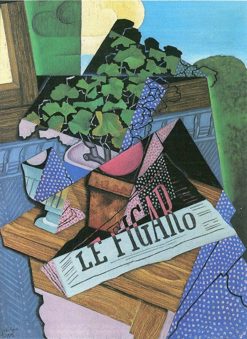 Still Life with geraniums - Juan Gris
