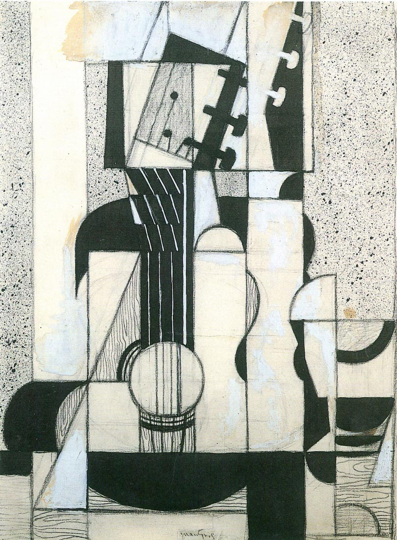 Still Life with guitar - Juan Gris