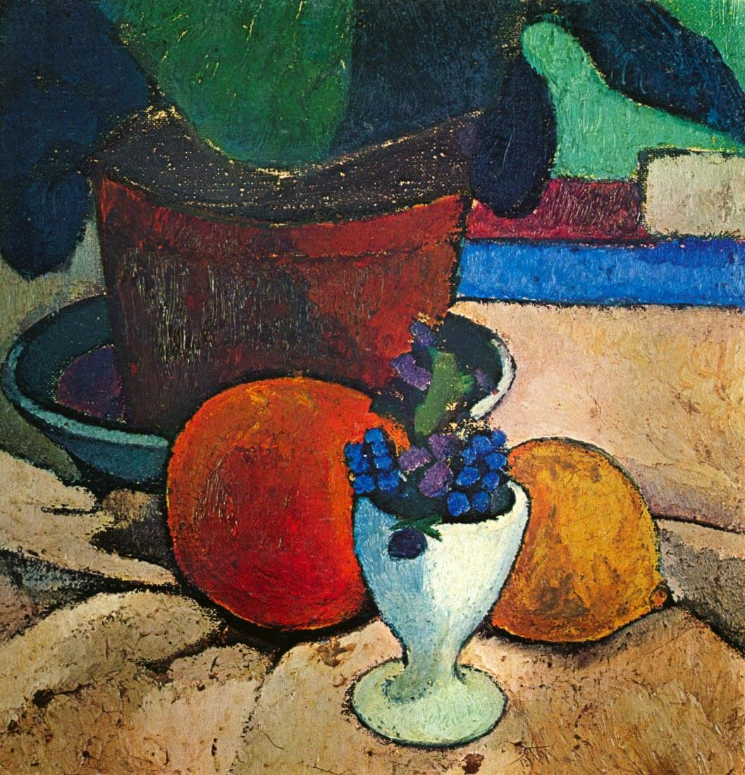 Still Life with lemon, orange and tomato - Modersohn-Becker