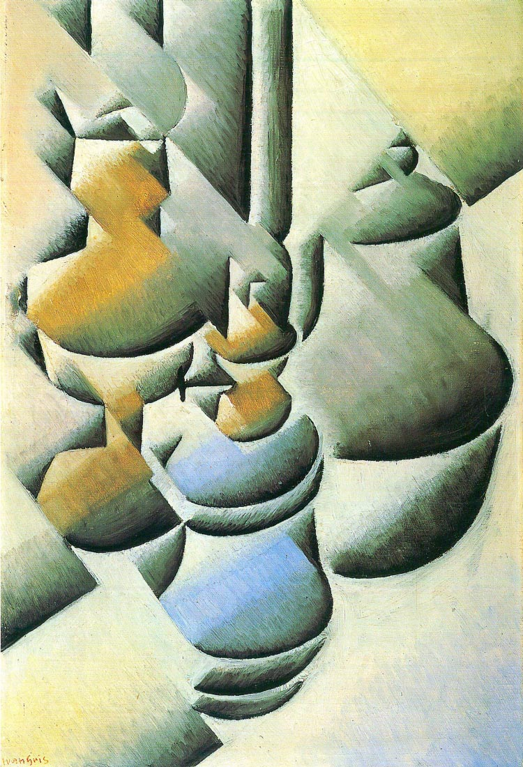 Still Life with oil lamp - Juan Gris