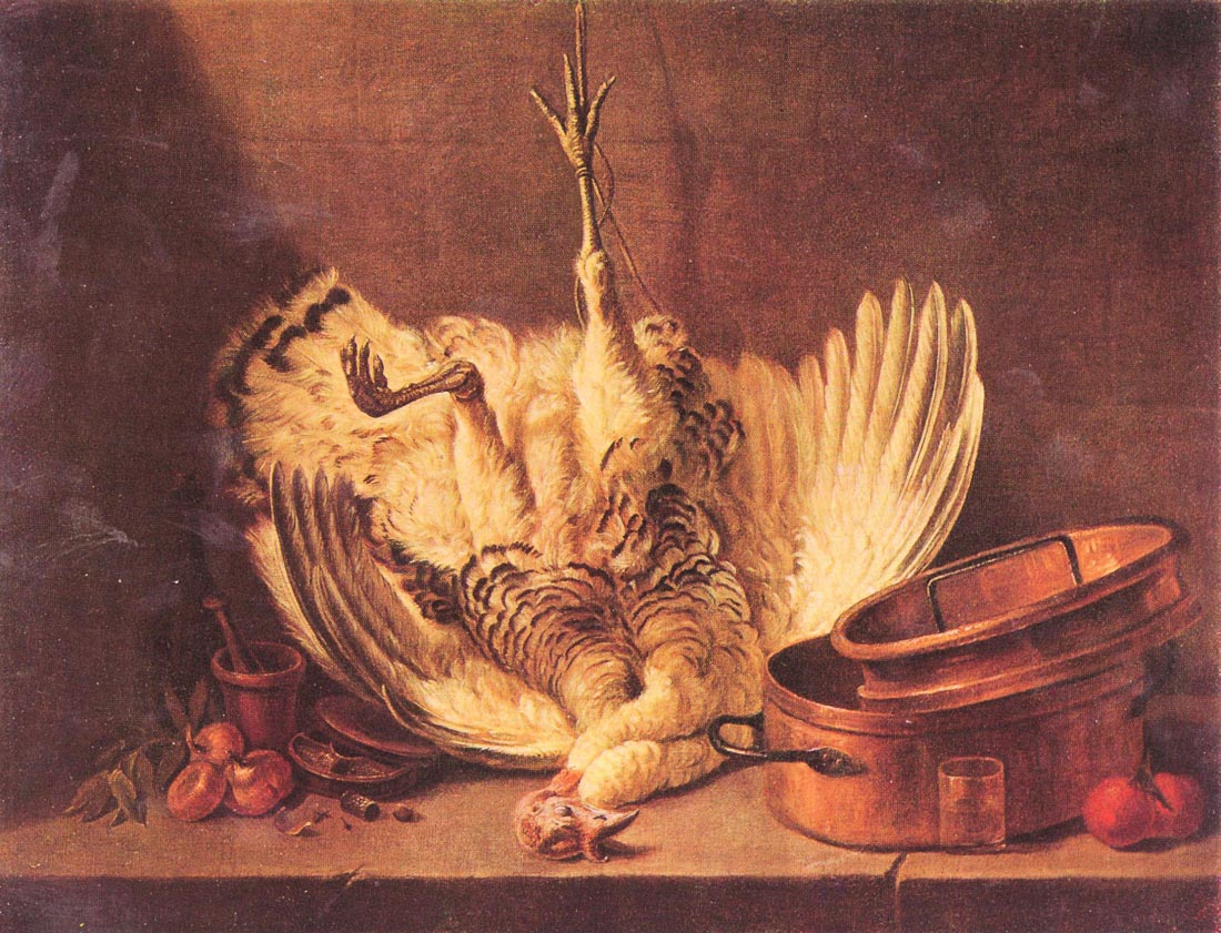 Still Life with turkey - Jean Chardin