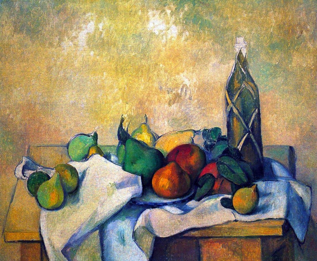Still life, Rum - Cezanne