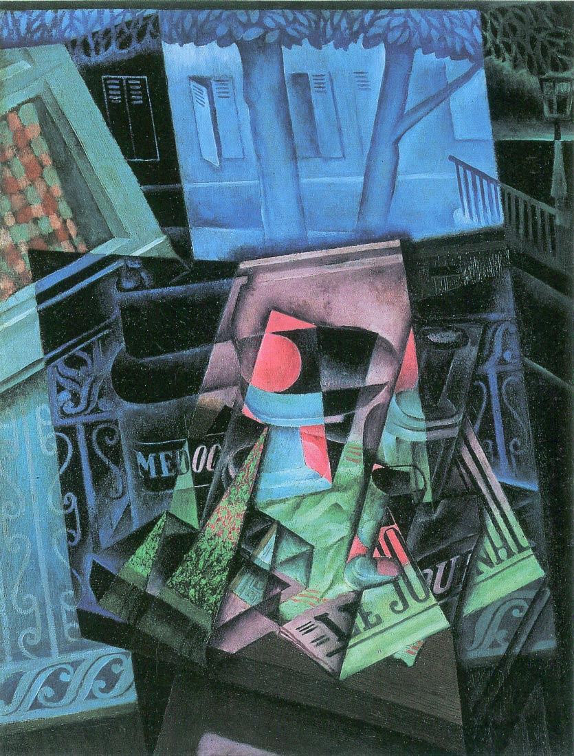 Still life and urban landscape (Place Ravignan) - Juan Gris
