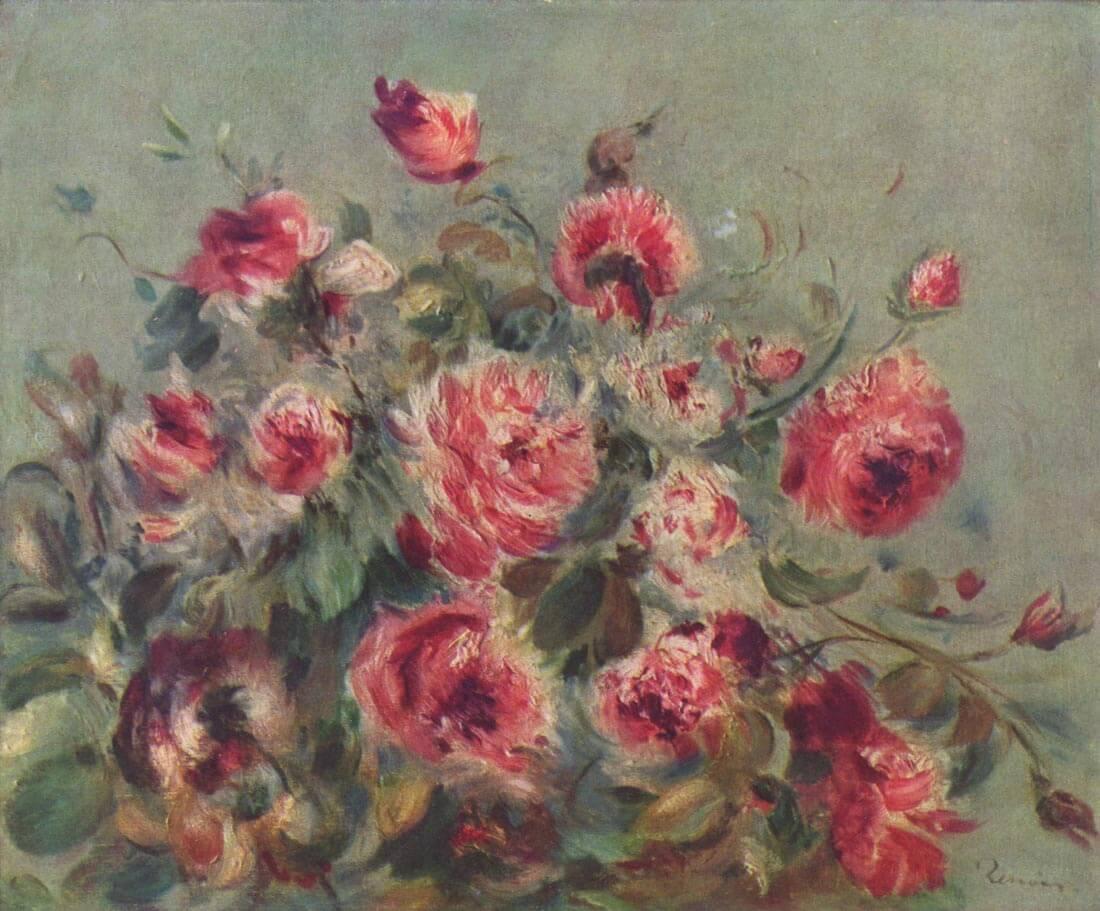 Still life roses of Vargemont - Renoir