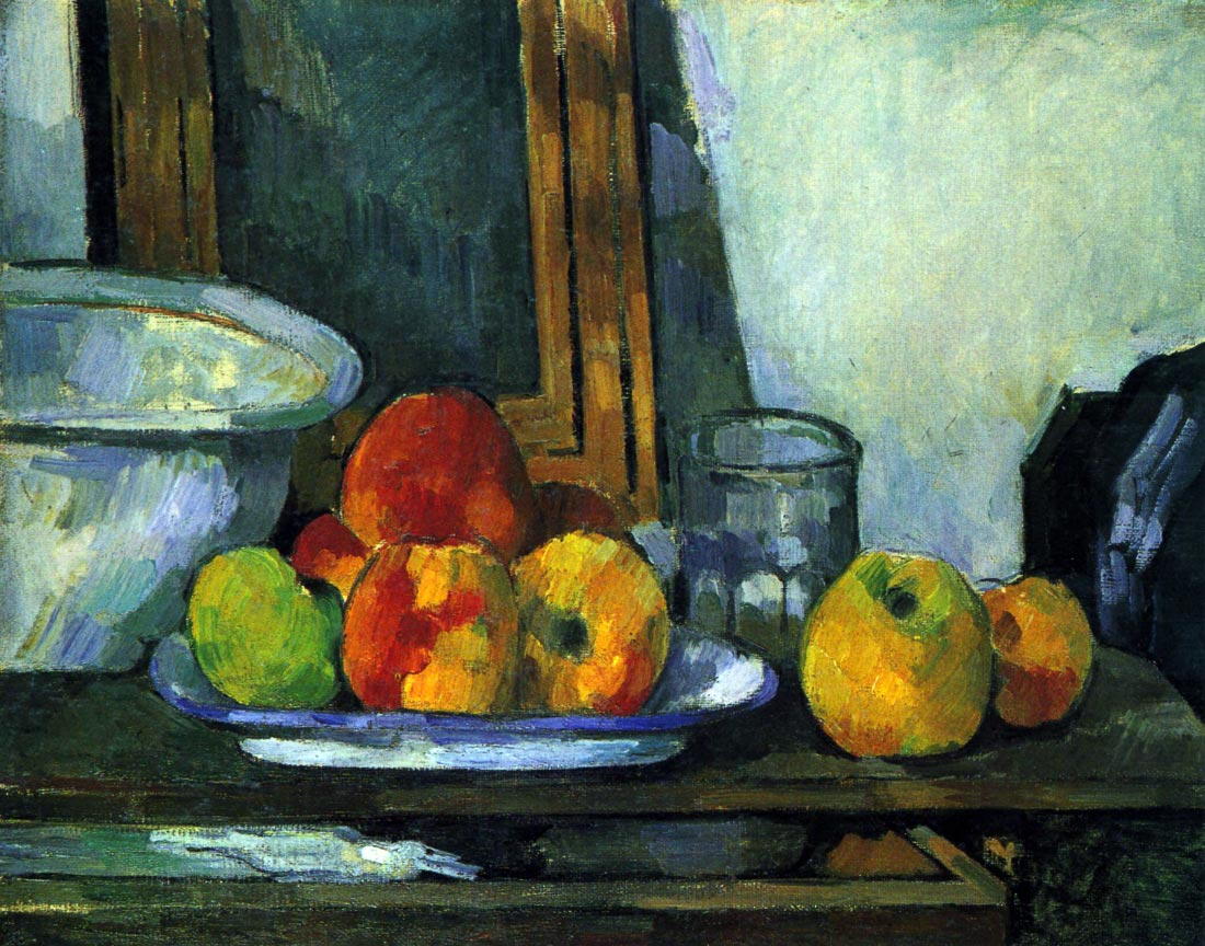 Still-life with an open drawer - Cezanne