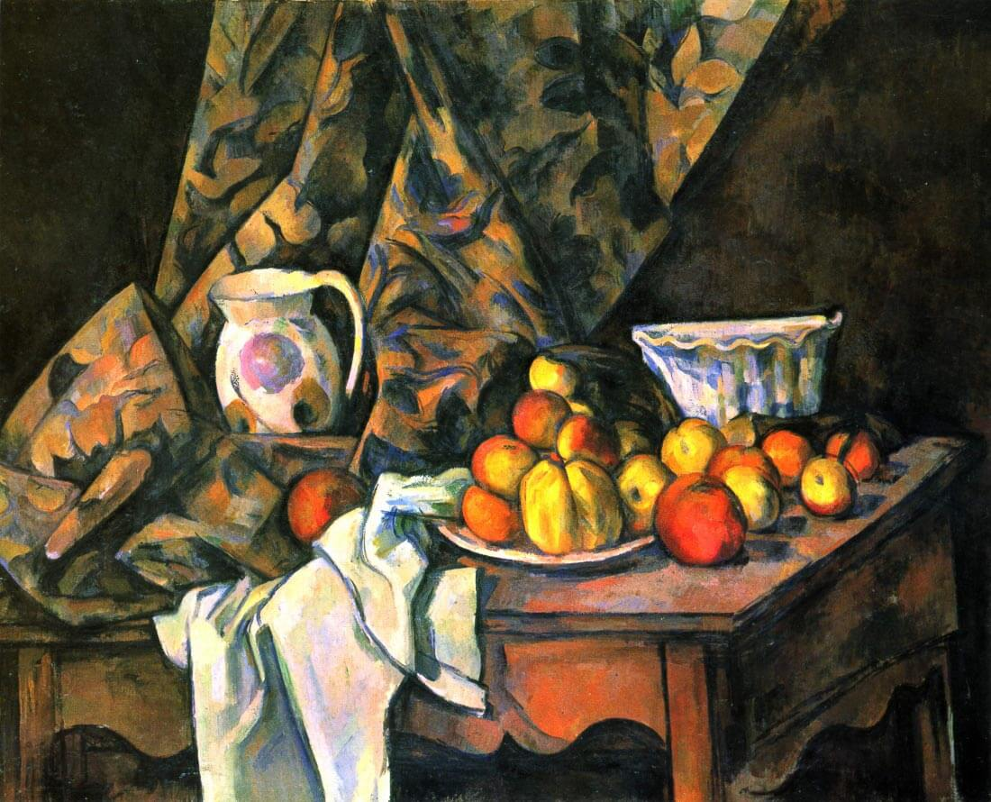 Still life with apples and peaches - Cezanne