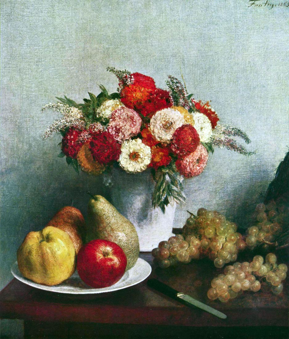 Still-life with flowers and fruit - Fantin-Latour