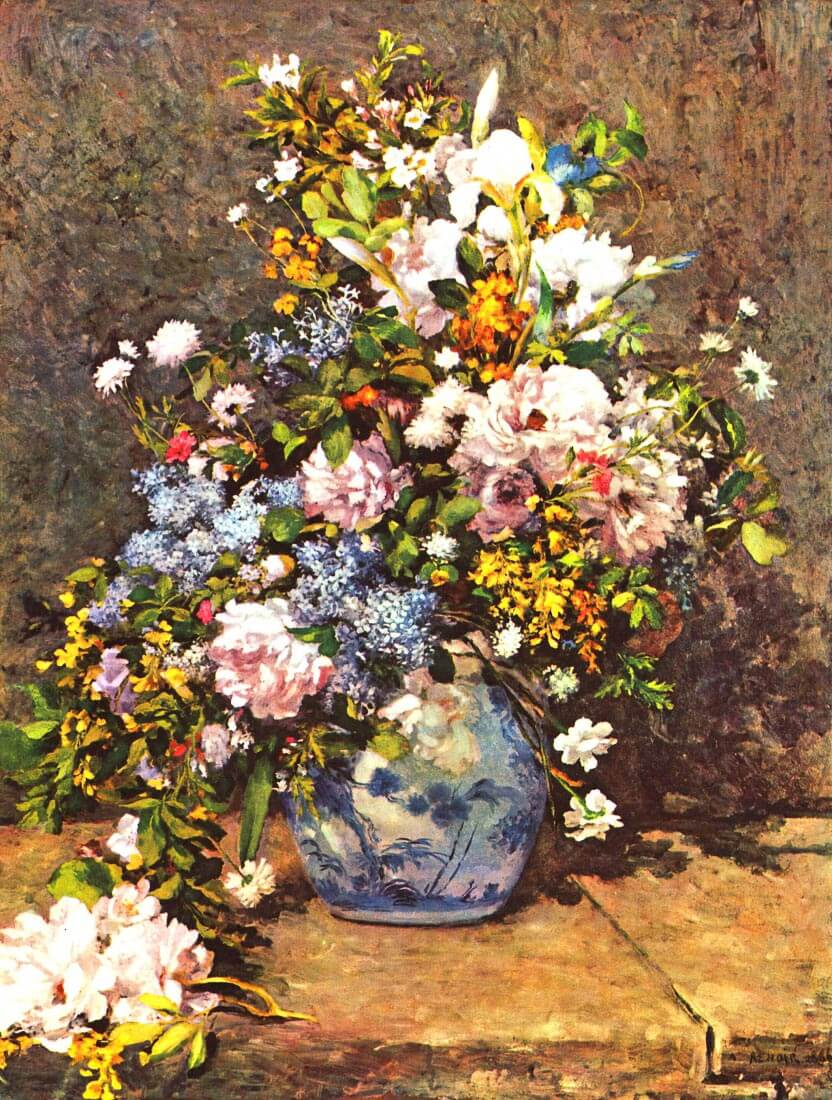 Still life with large vase - Renoir