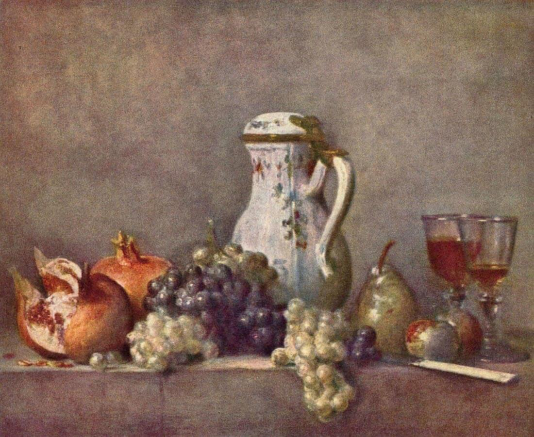Still life with porcelain jug - Jean Chardin