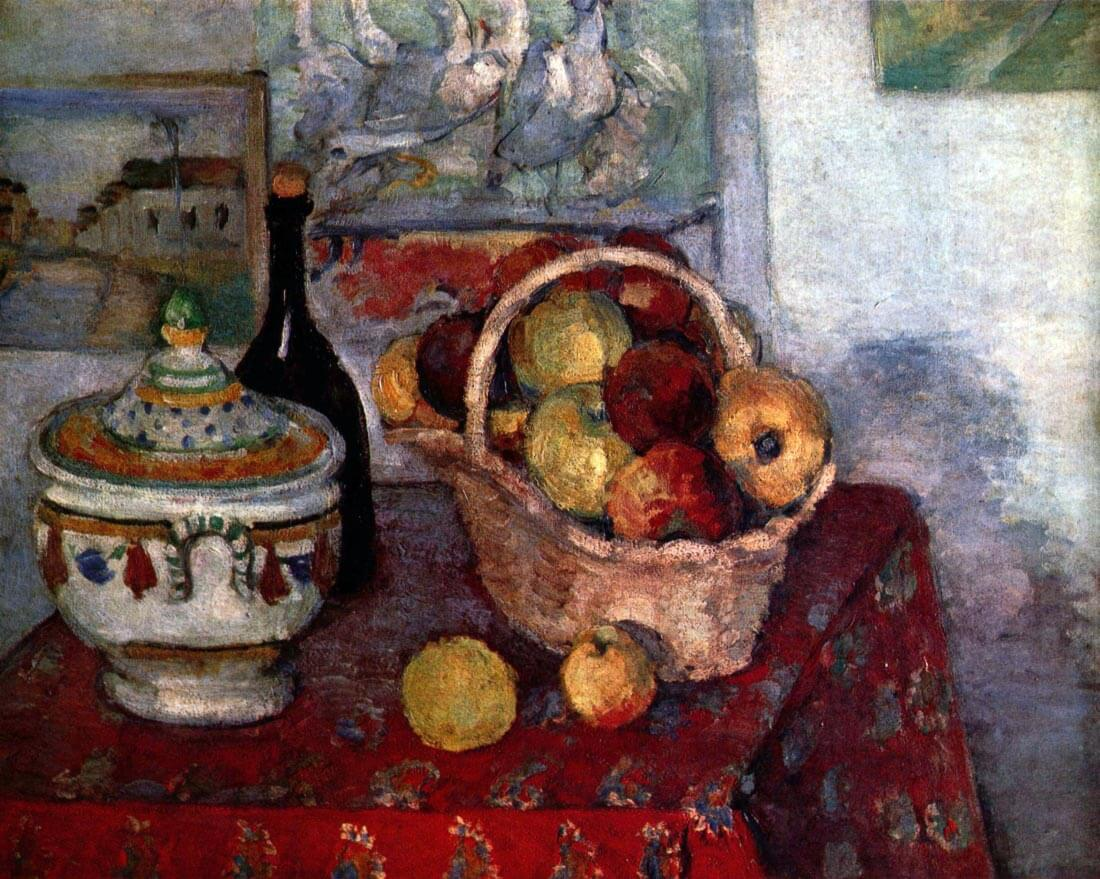 Still life with soup tureen - Cezanne