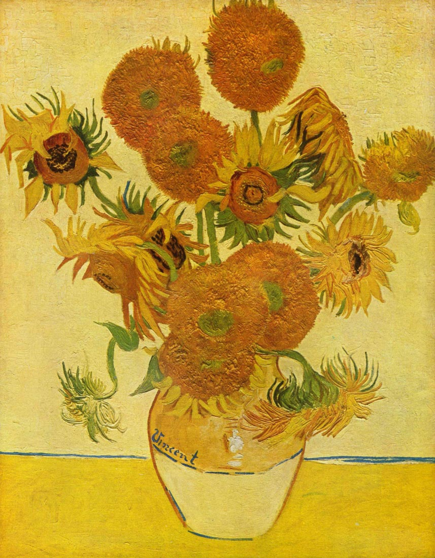 Still life with sunflowers by Van Gogh - Van Gogh