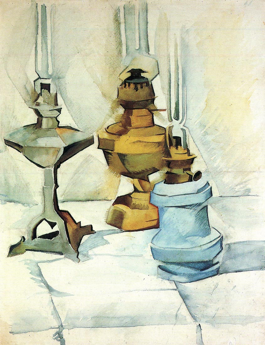 Still life with three lamps - Juan Gris