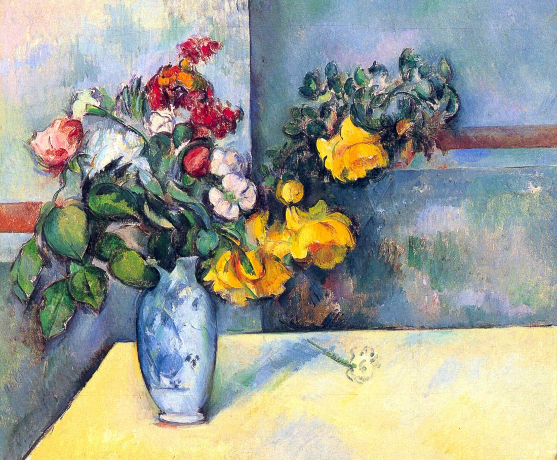 Still lifes, flowers in a vase - Cezanne