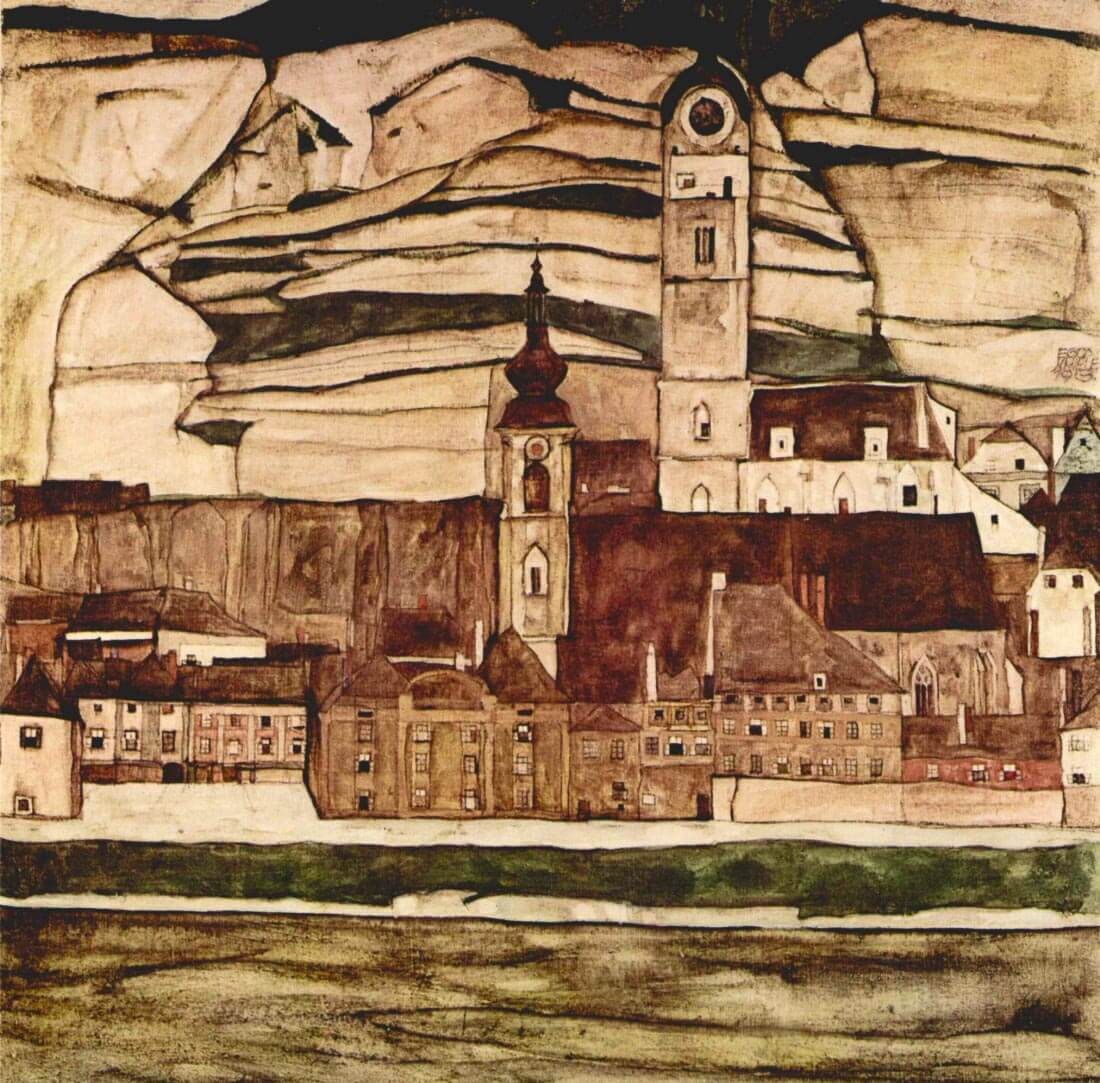 Stone on the Danube II - Schiele