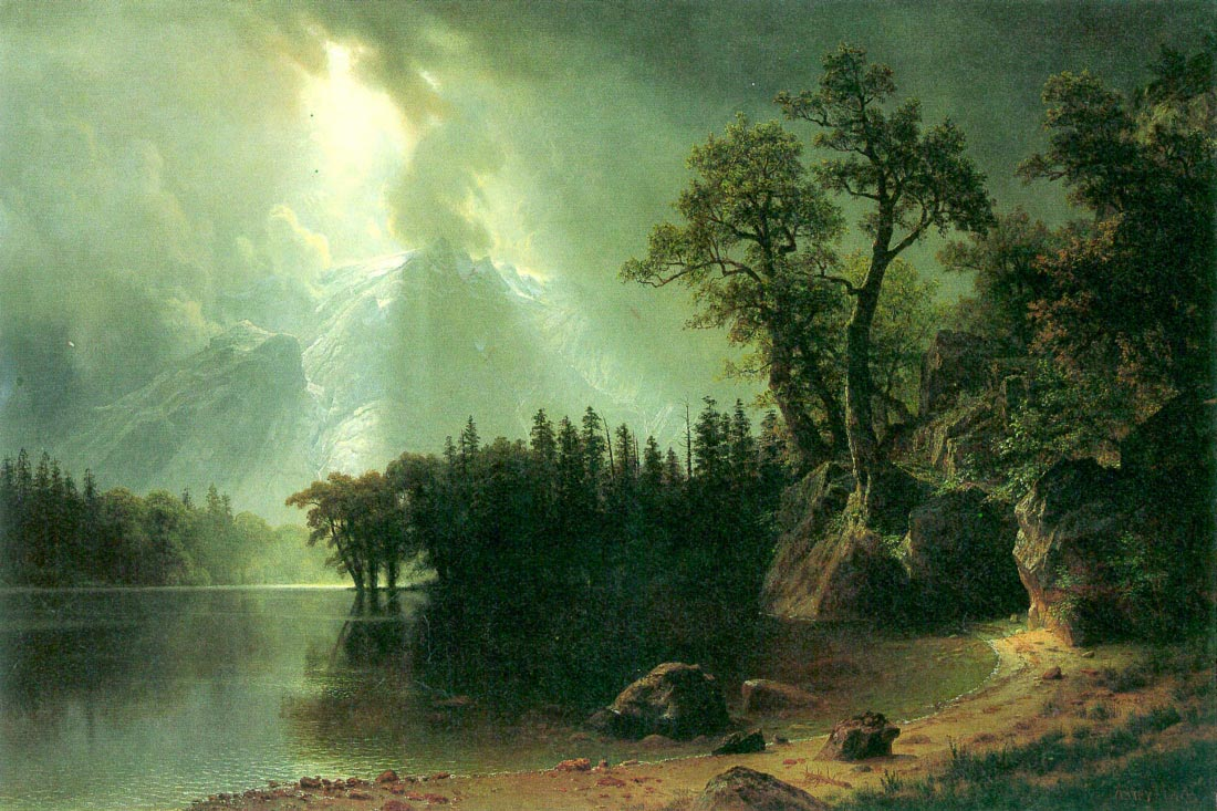 Storm over the Sierra Nevada - Bierstadt