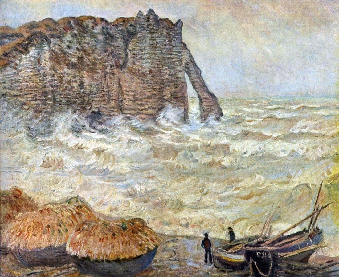 Stormy Sea (La Porte d Aval) - Monet