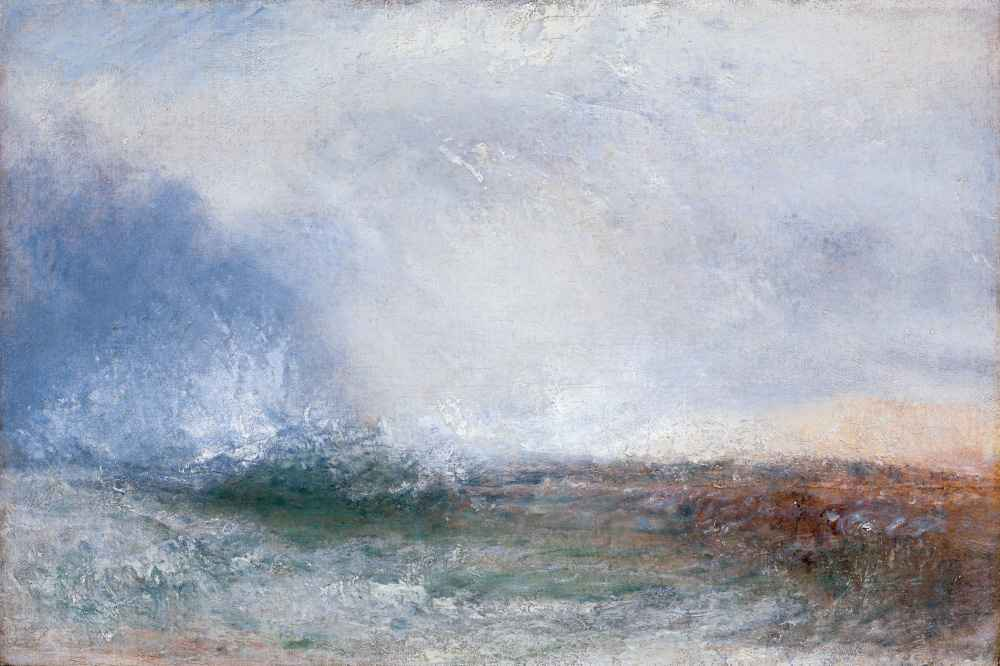 Stormy Sea Breaking on a Shore - Joseph Mallord William Turner