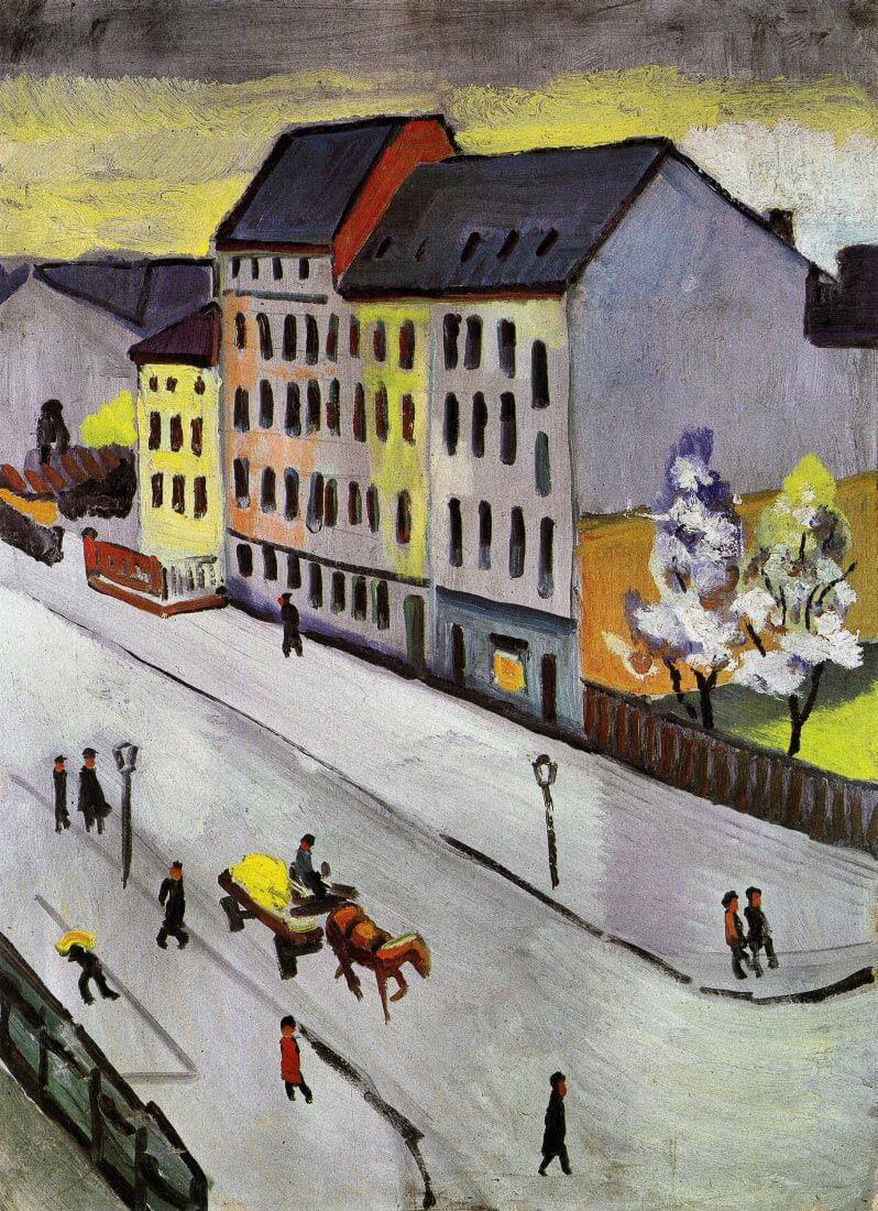 Street in Gray - August Macke