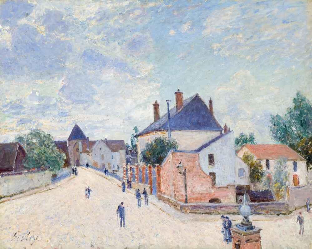 Street in Moret - Alfred Sisley
