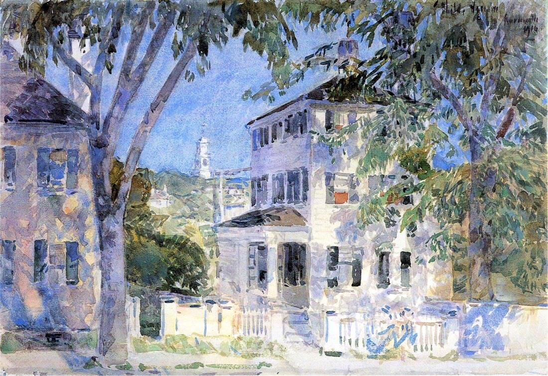 Street in Portsmouth - Hassam