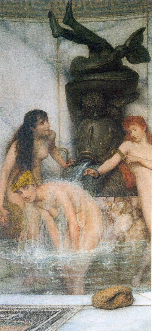 Strigilis and sponges - Alma-Tadema