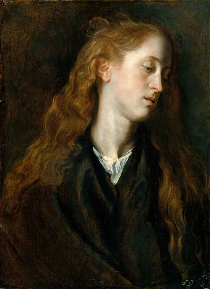 Study Head of a Young Woman - Antoon van Dyck
