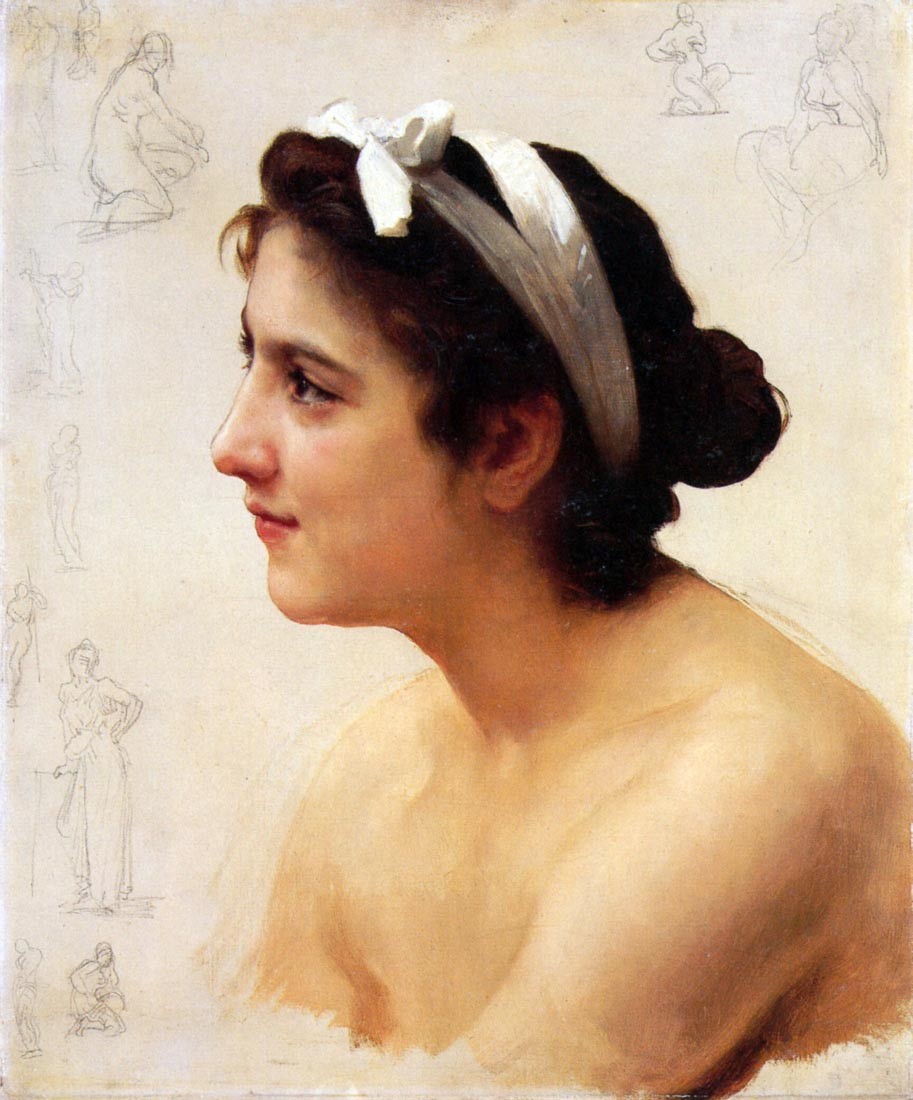Study Of A Woman For Offering To Love - Bouguereau