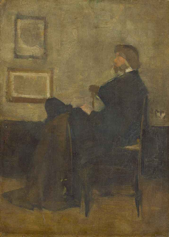 Study for Arrangement in Grey and Black, No. 2 - Portrait of Thomas Ca