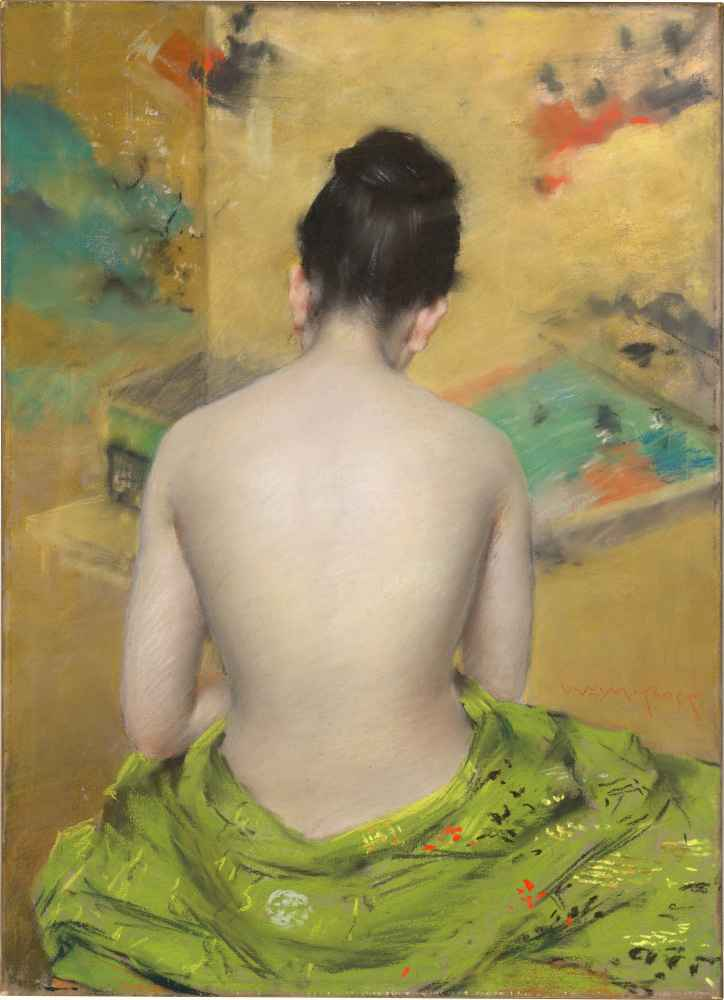 Study of Flesh Color and Gold - William Merritt Chase