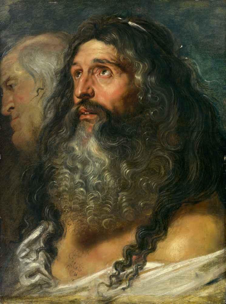 Study of Two Heads - Peter Paul Rubens