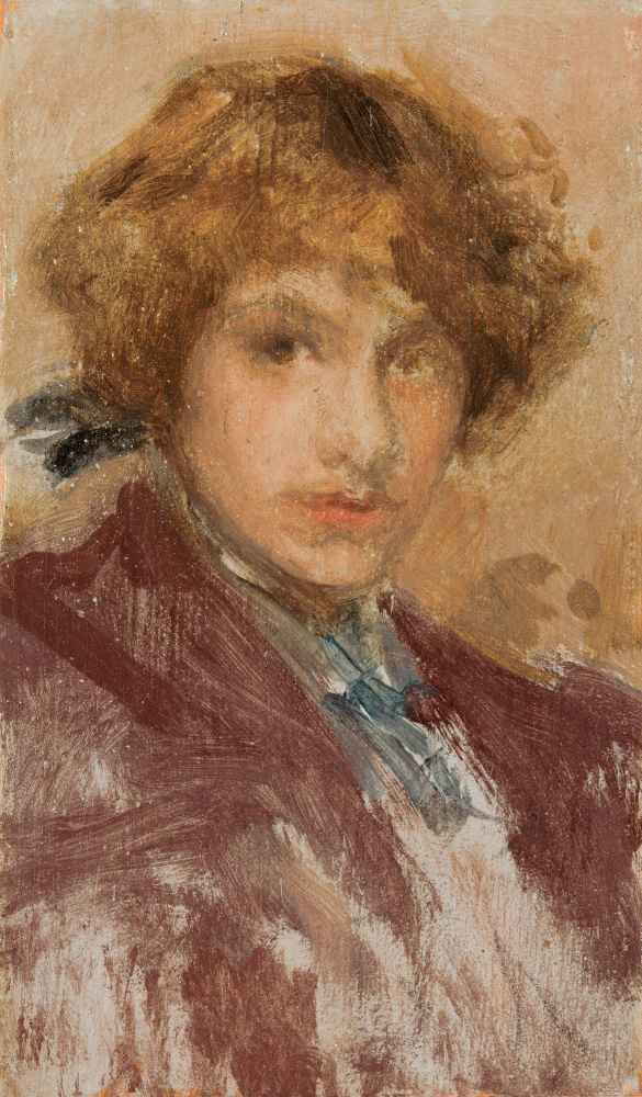 Study of a Girl's Head and Shoulders - James Abbott McNeill Whistler