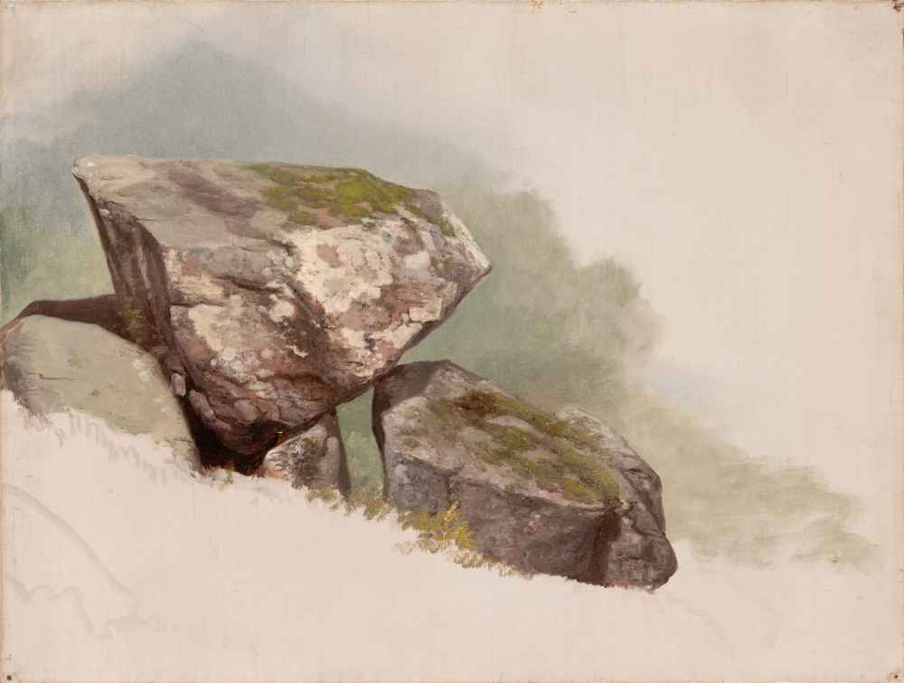 Study of a Rock - Asher Brown Durand