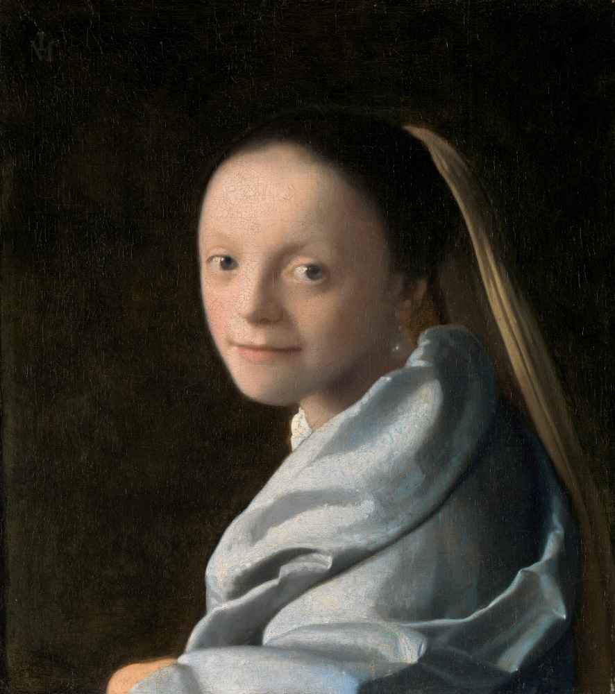 Study of a Young Woman - Jan Vermeer