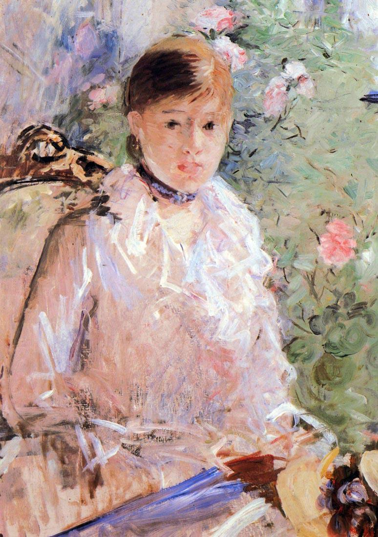 Summer young woman at the window - Morisot