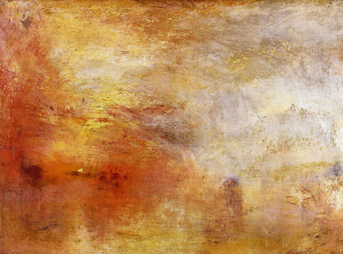 Sun setting over a lake - Joseph Mallord Turner