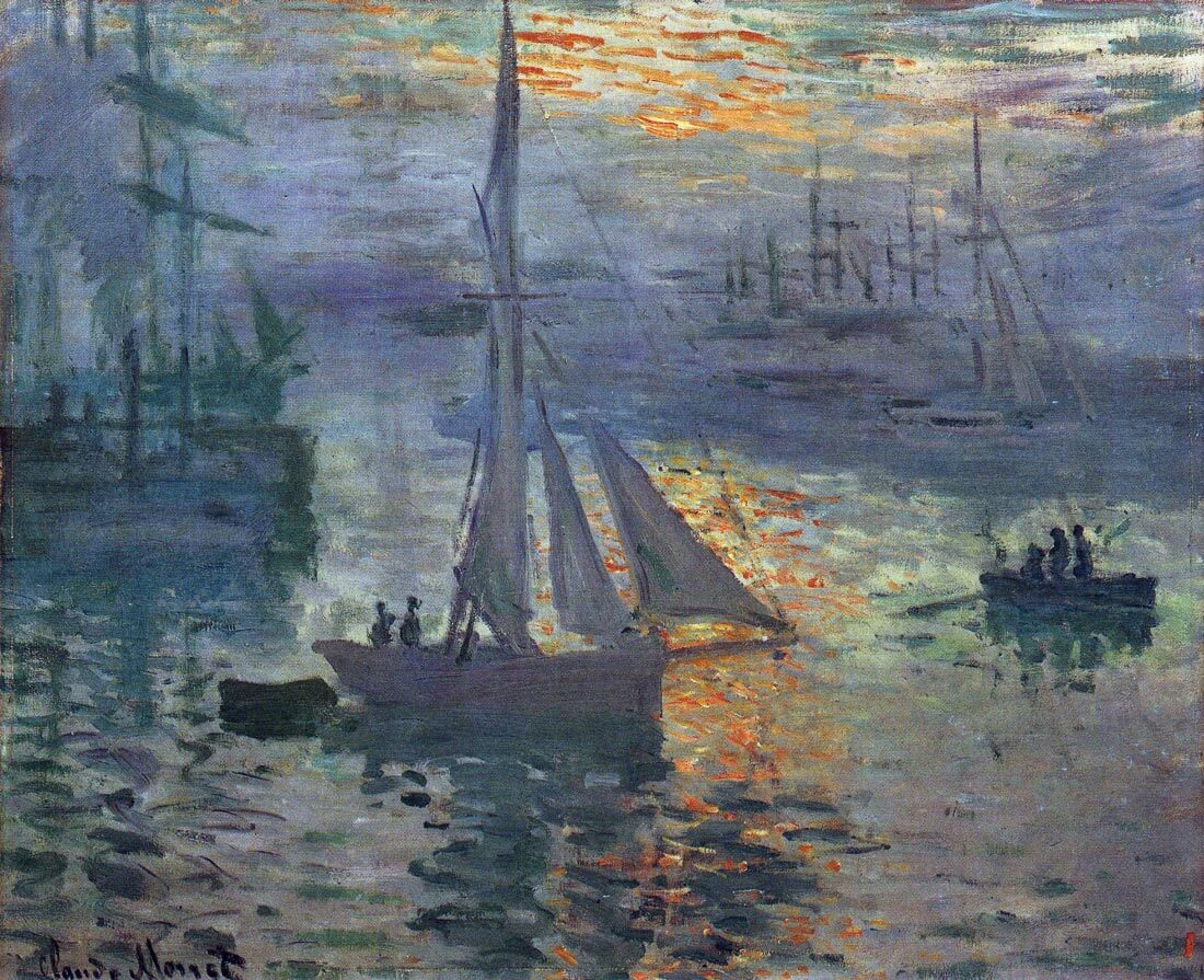 Sunrise at Sea 1 - Monet