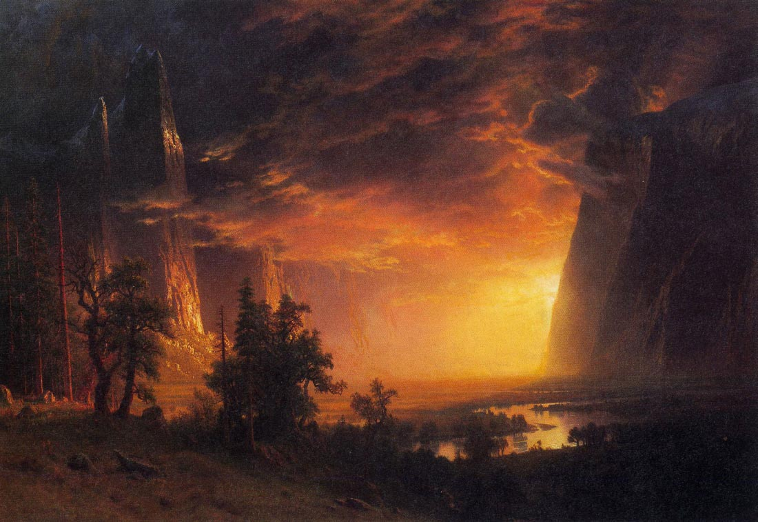 Sunrise in Yosemite Valley - Bierstadt