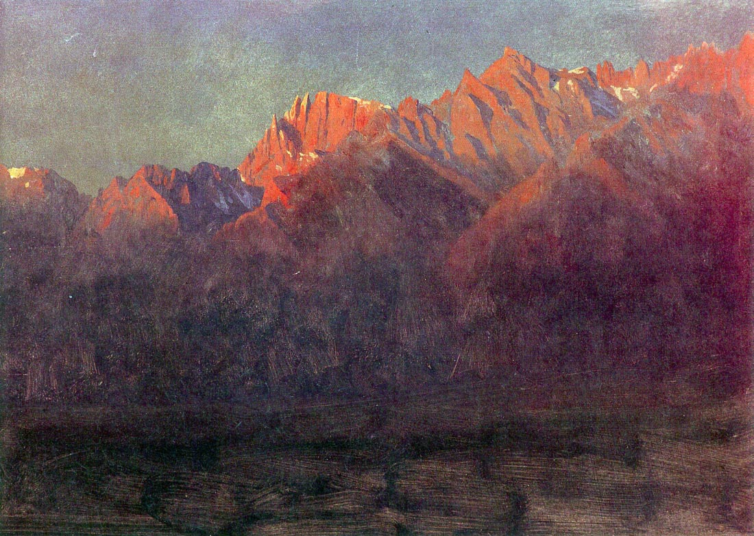 Sunrise in the Sierras - Bierstadt