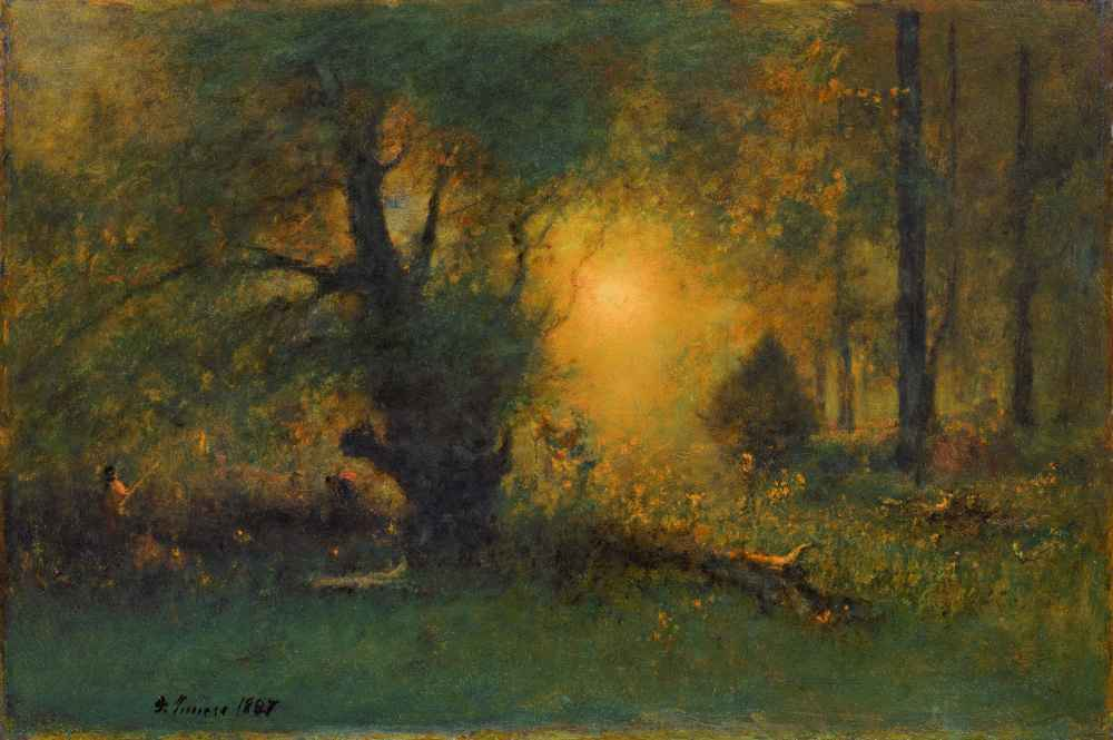 Sunrise in the Woods - George Inness