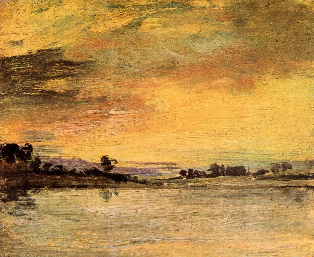 Sunrise on the river - Joseph Mallord Turner