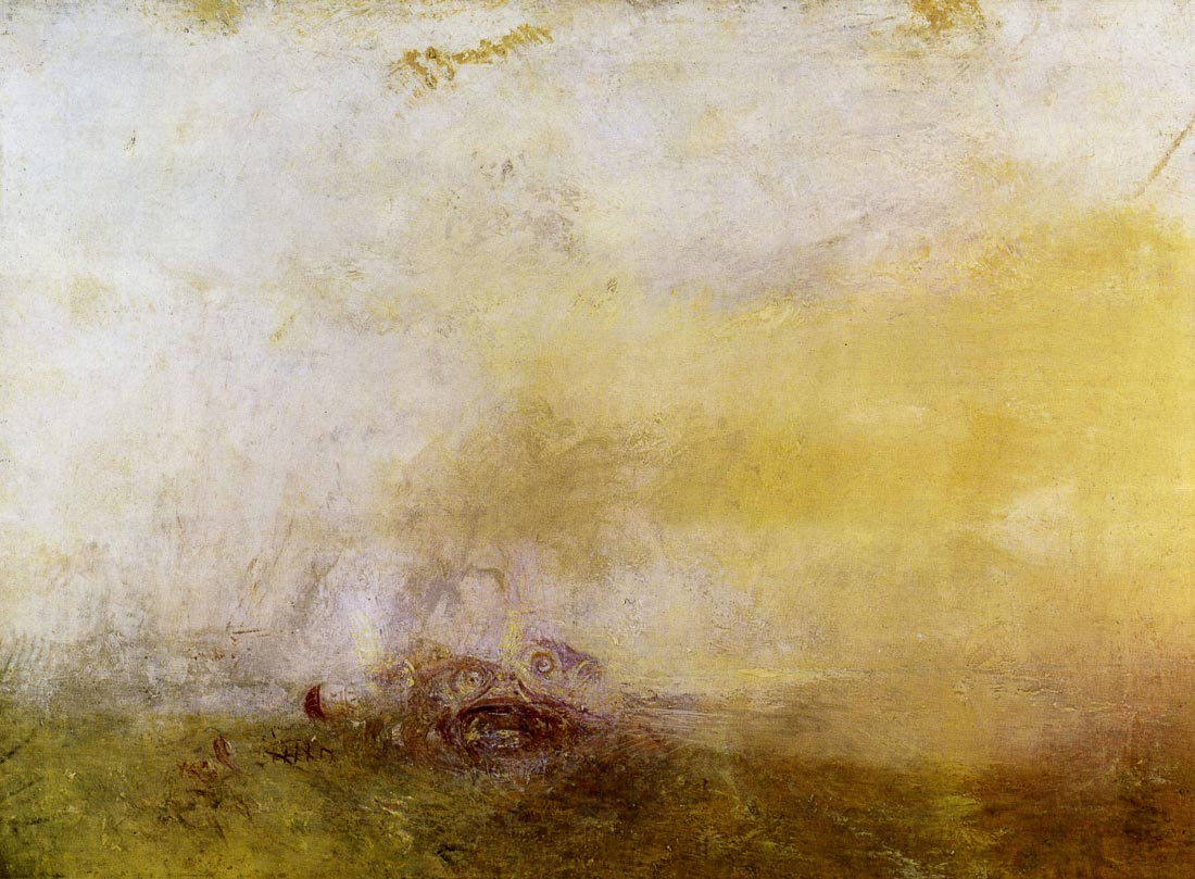 Sunrise with Sea Monsters - Joseph Mallord Turner