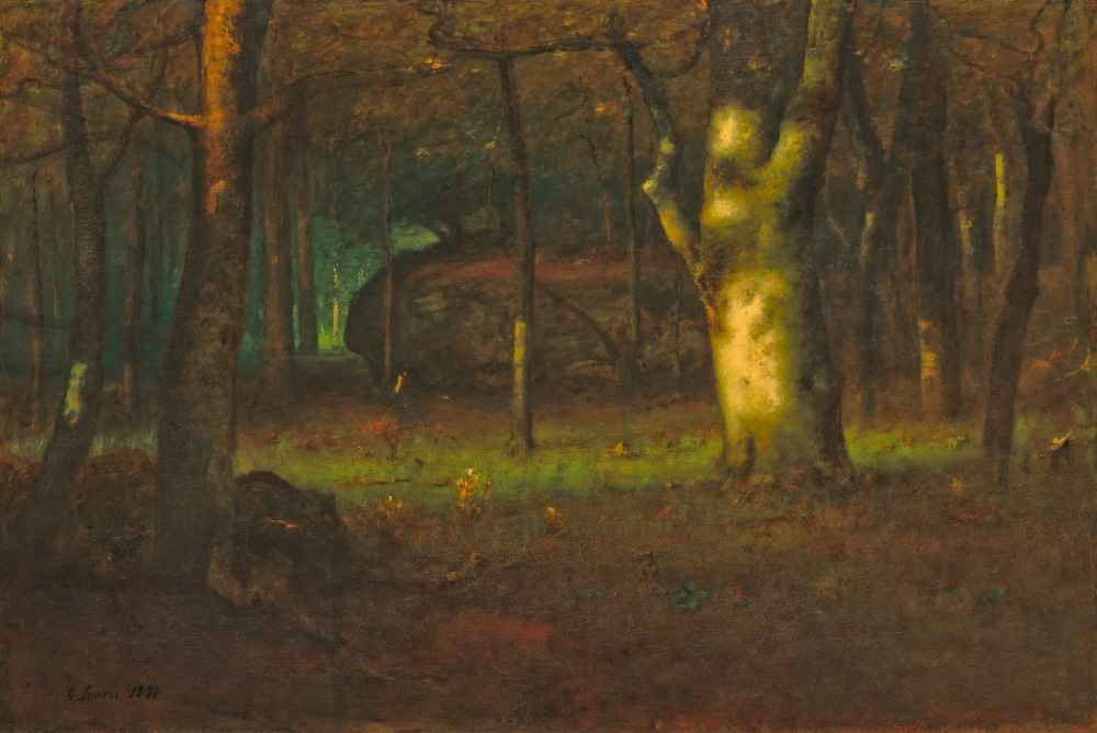 Sunset in the Woods - George Inness
