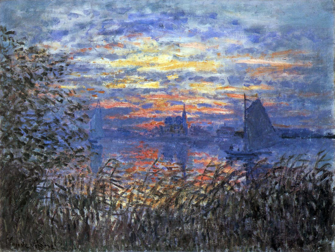 Sunset on the Seine - Monet