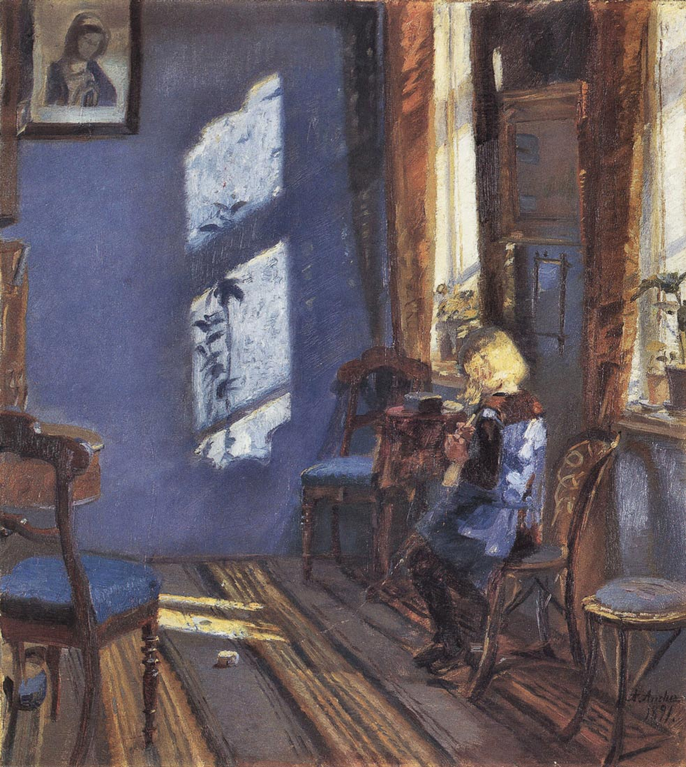 Sunshine in the blue room - Anna Ancher