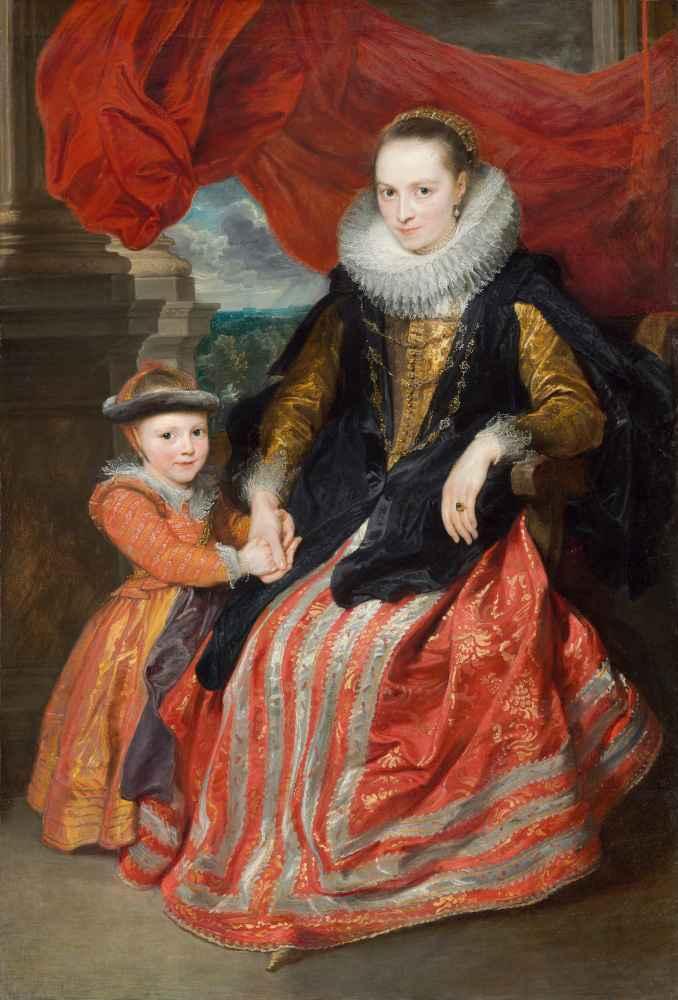 Susanna Fourment and Her Daughter - Antoon van Dyck