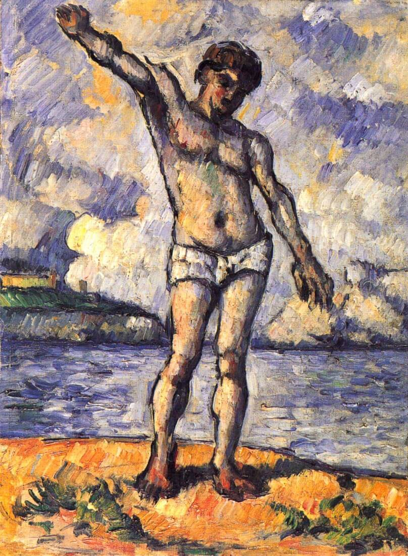 Swimmer with outstretched arms - Cezanne